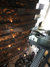 Inside of the multi level museum.