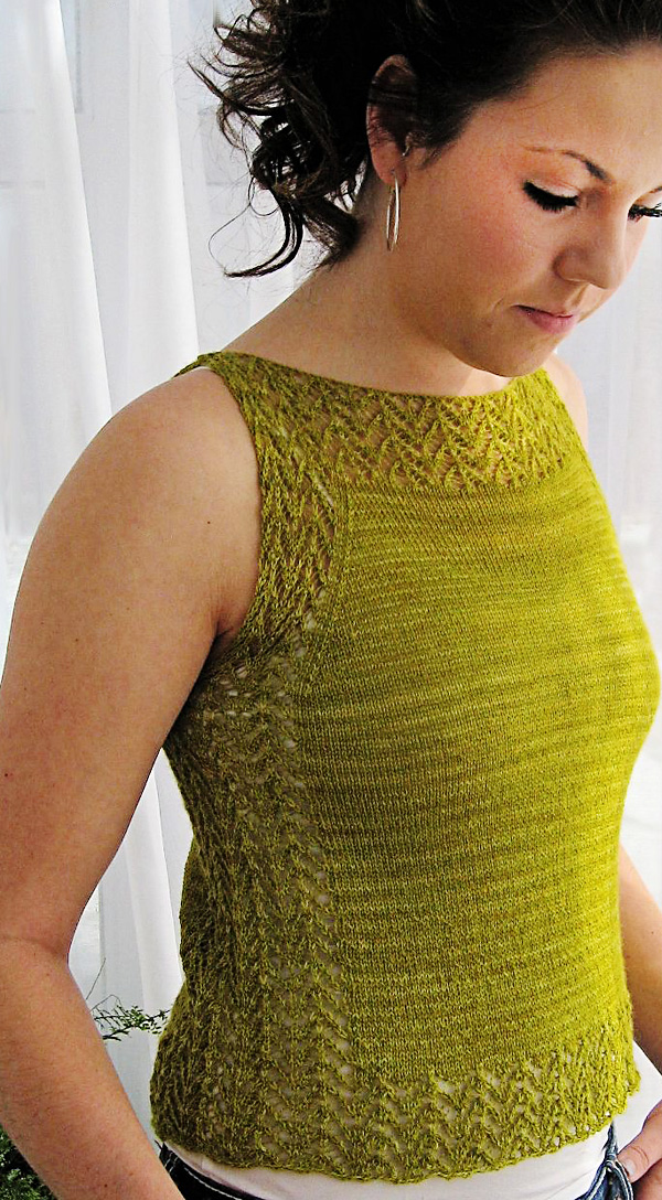 Knitting Patterns For Tank Tops