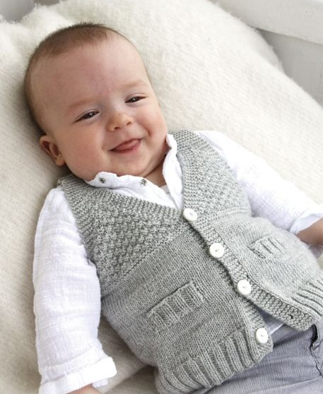 Vests for Babies and Children Knitting Patterns | In the ...