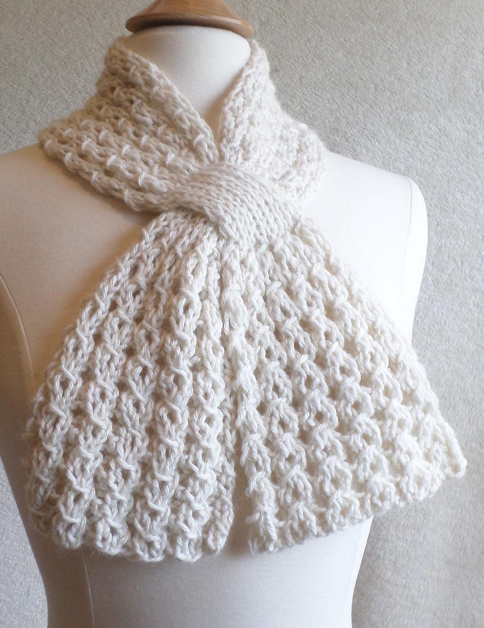 Knit Scarf Bulky Yarn Patterns