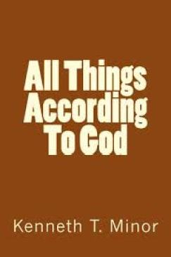 book cover - all things according to God