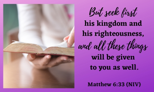 quote of matthew 6:33