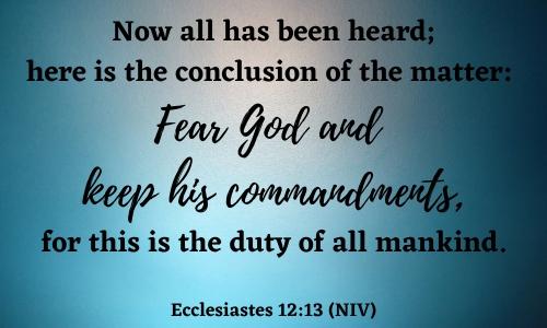 quote of ecclesiastes 12:13