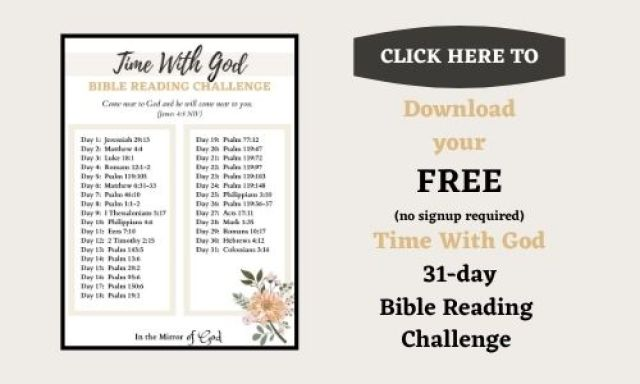 time with God reading challenge