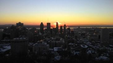 Sonnenaufgang vom Mont Royal