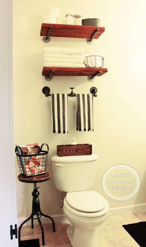 Industrial Farmhouse Bathroom Makeover on a budget