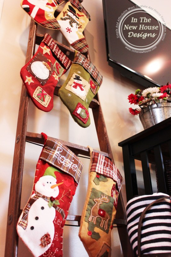 Stockings on old ladder