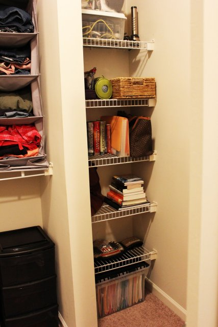 Closet Reorganized