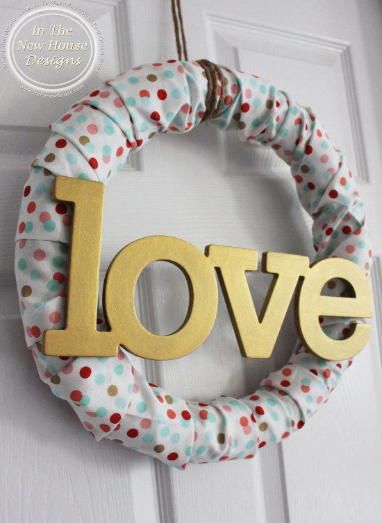 DIY Valentine Fabric Wreath
