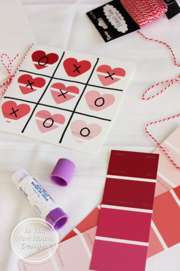 Paint Chip samples turned Valentine Card