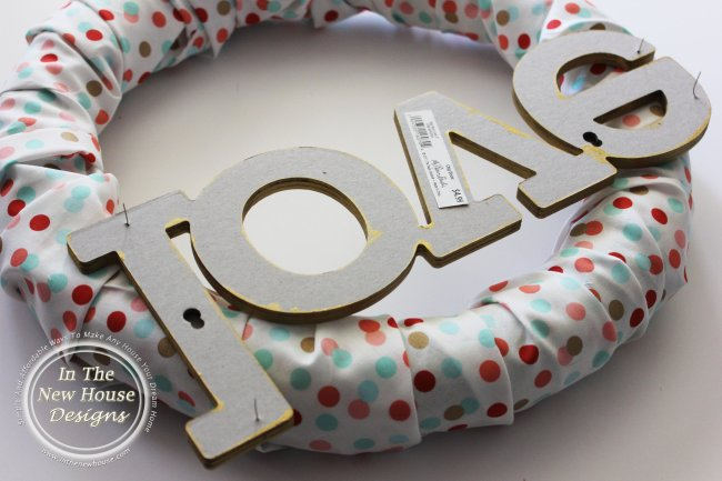 pins to hold letters on foam wreath