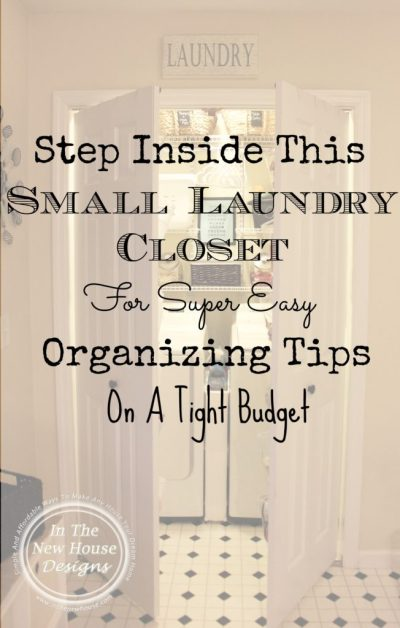 Tour this small laundry closet for affordable ways to make the tiny workspace neat and organized.