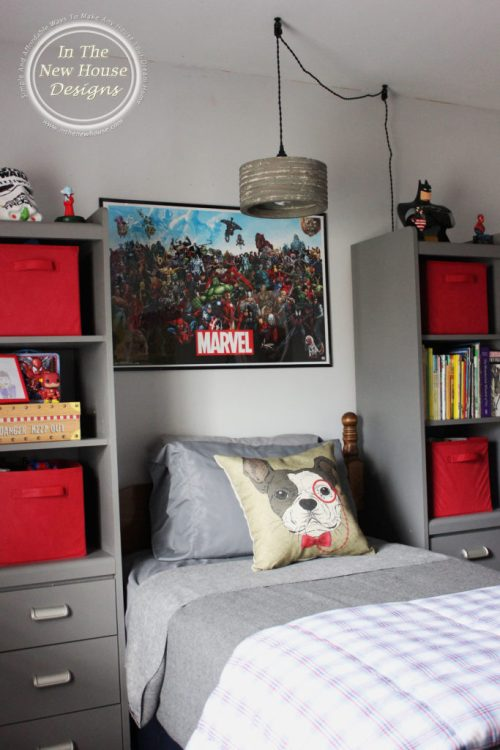 Big Boy Room with gray and red