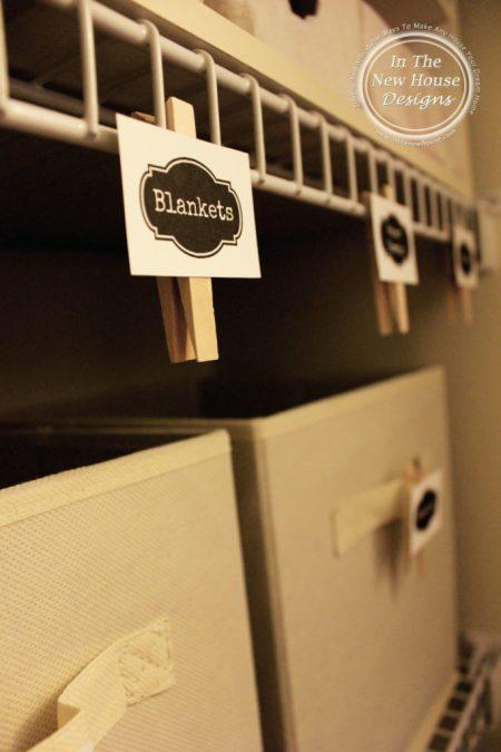 Free Printable Linen Closet Labels