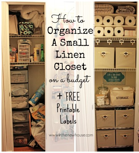 Organize a linen closet on the cheap with these super simple tips