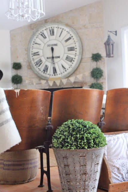 Vintage Seating In A French Country Living Room