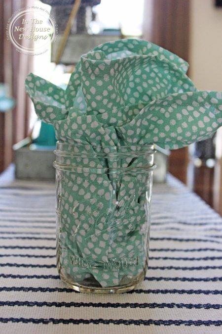 Cloth Napkin in Mason Jar
