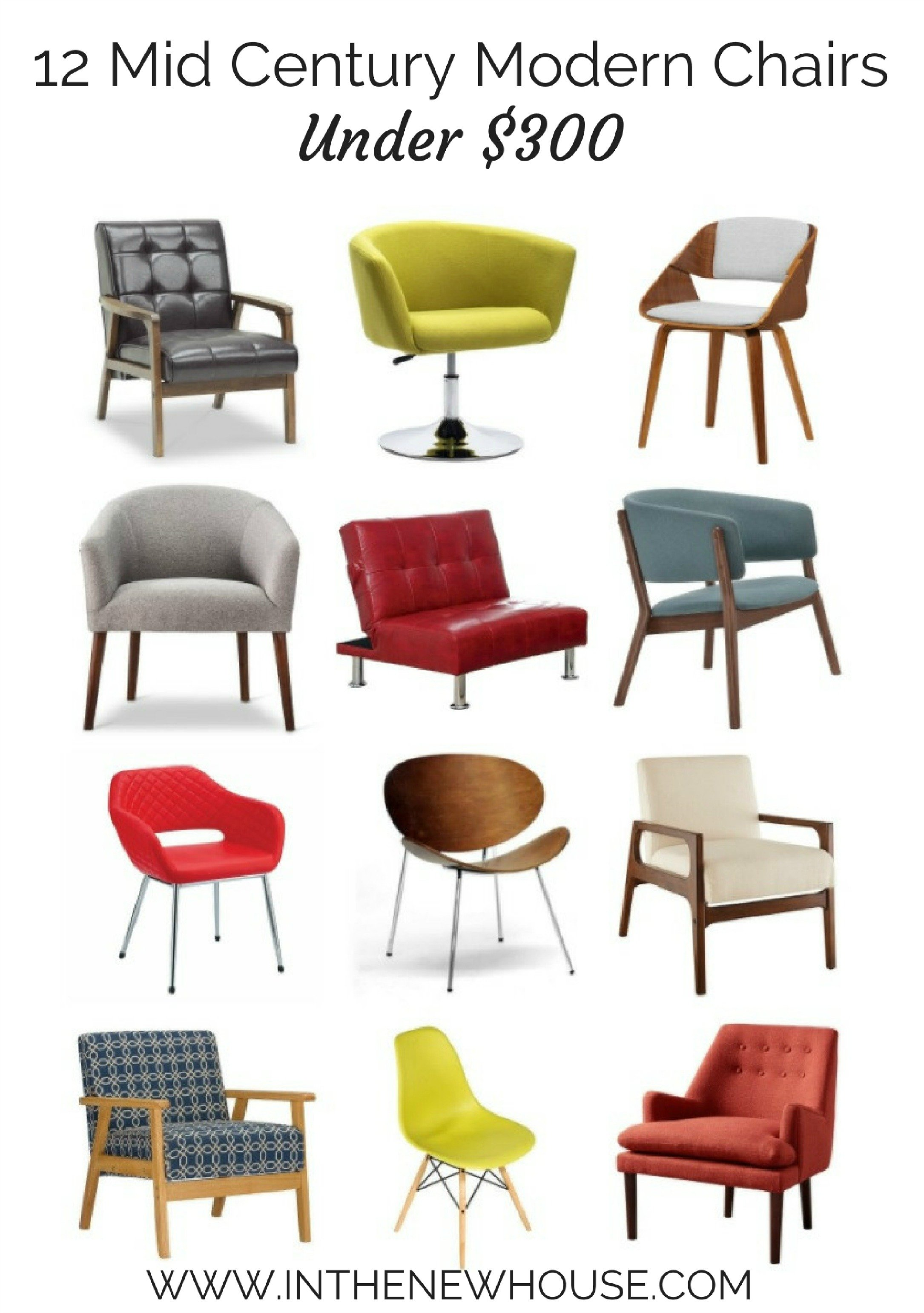 12 Mid Century Modern Chairs Under $300 In The New House