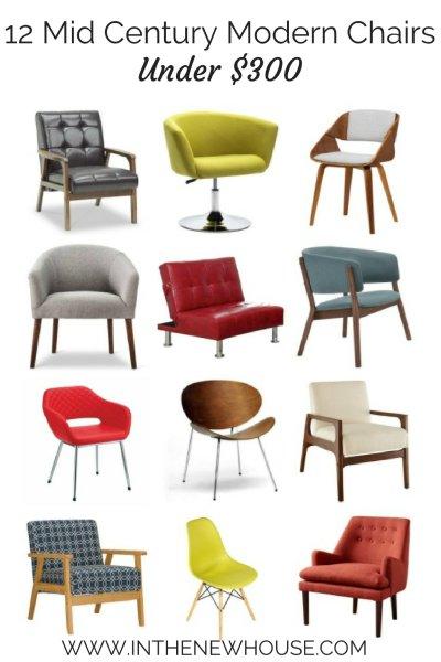 12 Mid Century Modern Chairs Under $300