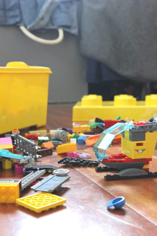 Make your kids a lego tray to keep Legos off the floor. Tutorial here.