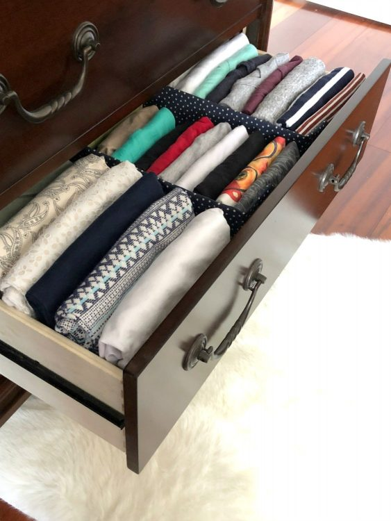 file fold drawers and use diy dividers