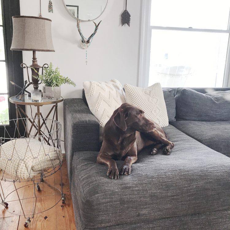 rustic farmhouse living room sofa