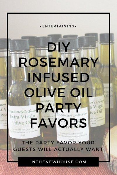 DIY Rosemary Infused Olive Oil Party Favors