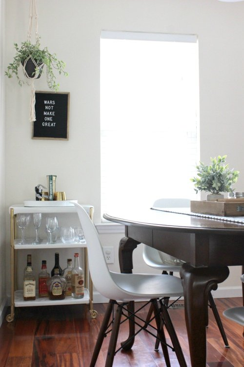 diy thrifted bar cart makeover via @lelaburris of In The New House Designs