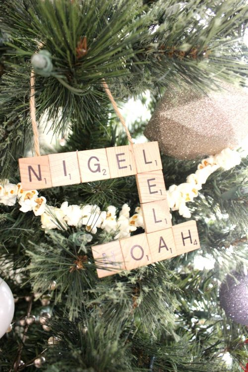 diy scrabble tile ornament