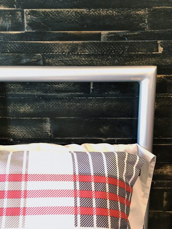 wood accent wall kid room