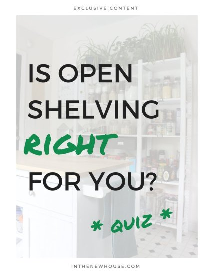 open shelving pros and cons