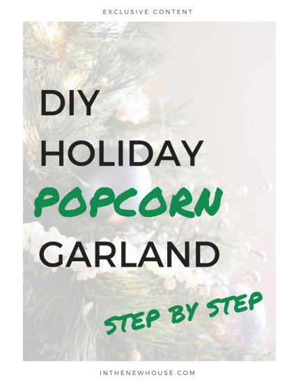 holiday popcorn garland tutorial