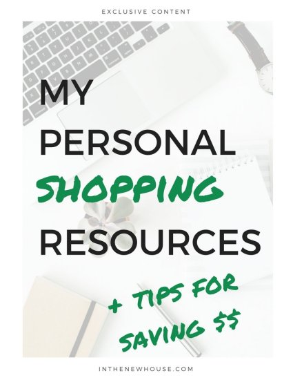 home shopping on a budget
