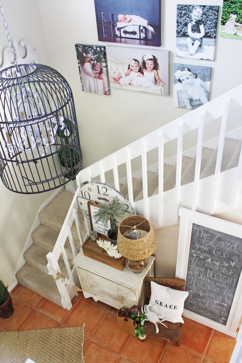 French Country Entryway and Staircase