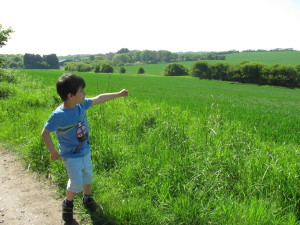 boy in the dover countryside
