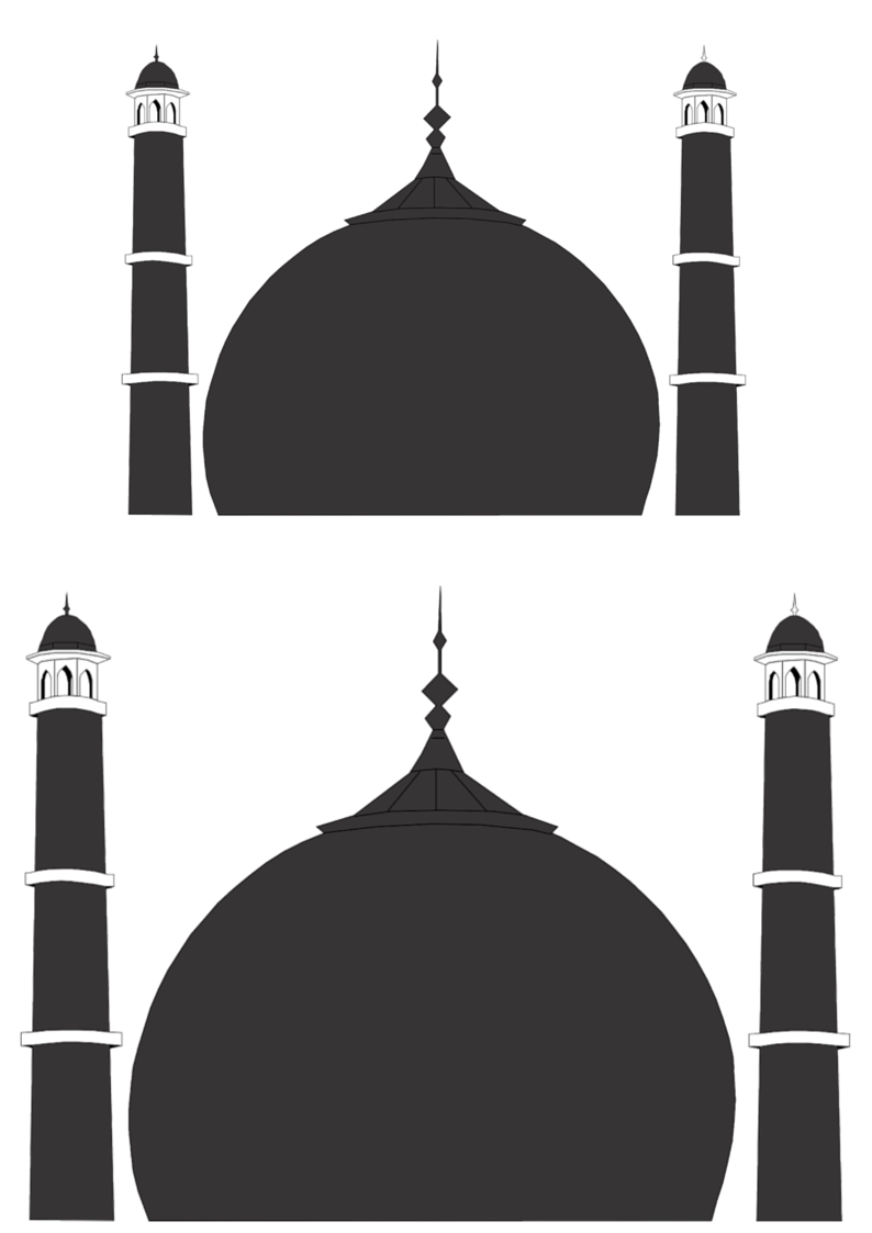 mosque silouhette outline template