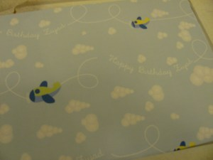 personalised wrapping paper happy birthday ziyad with planes