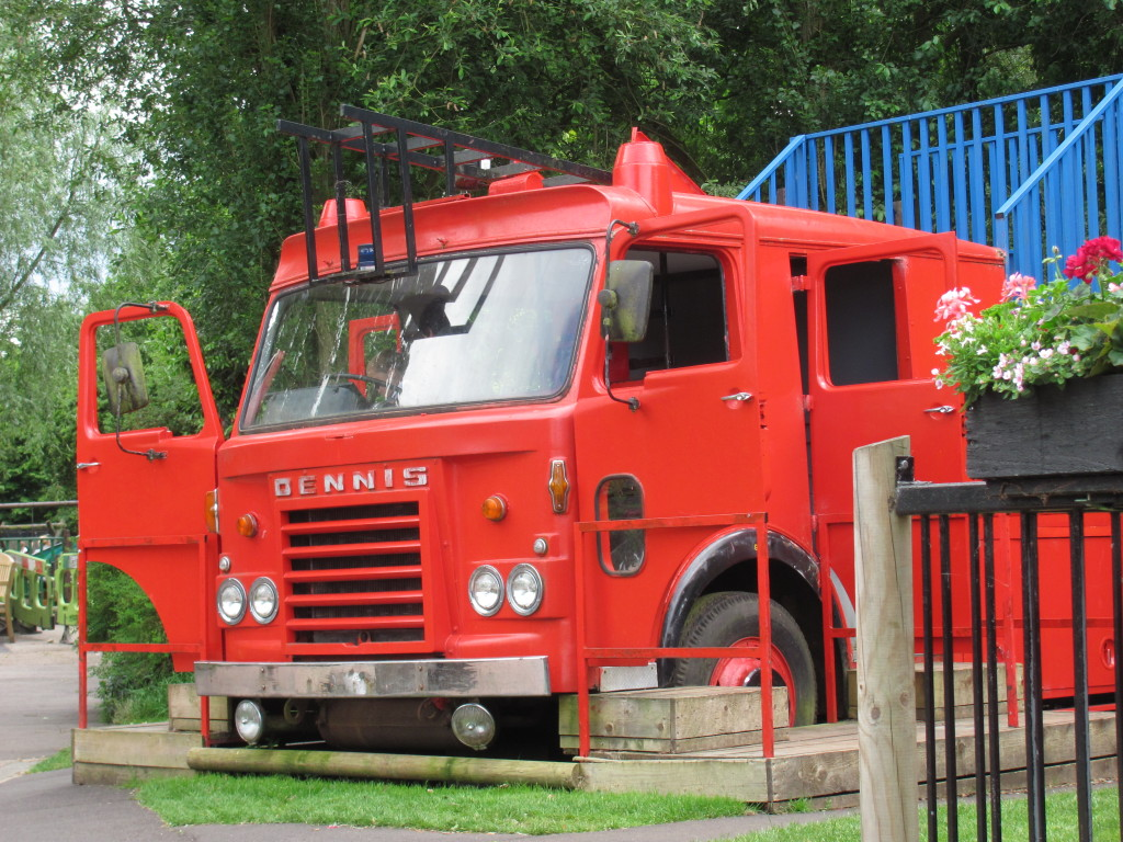 fire engine turned into a children's play area