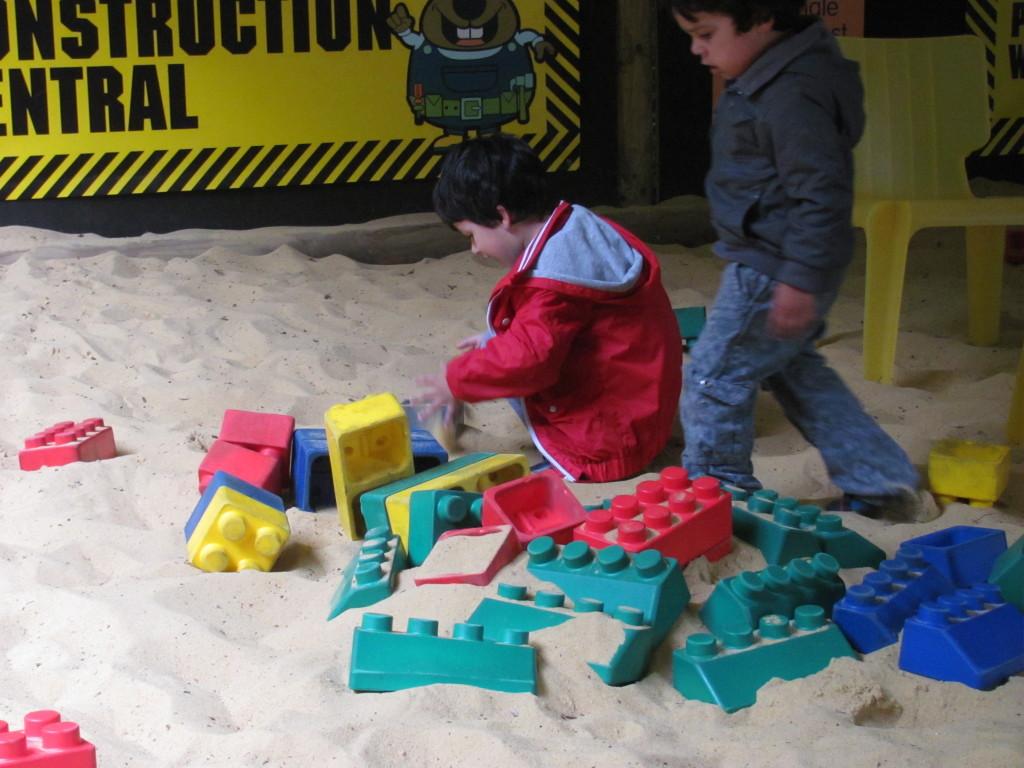 sand bricks play area
