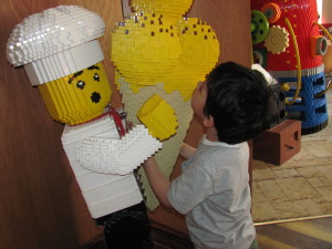boy with lego icecream