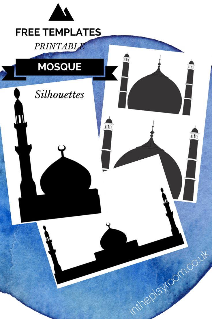 photograph relating to Free Printable Silhouettes named Slicing Sticking Mosque Visuals with totally free printable