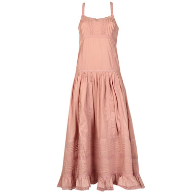 dusky pink maxi dress