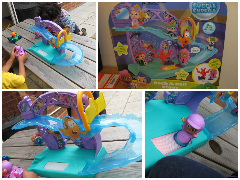 bubble guppies rock and roll stage toy