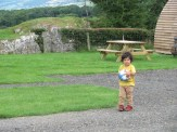 boy in the countryside with a football