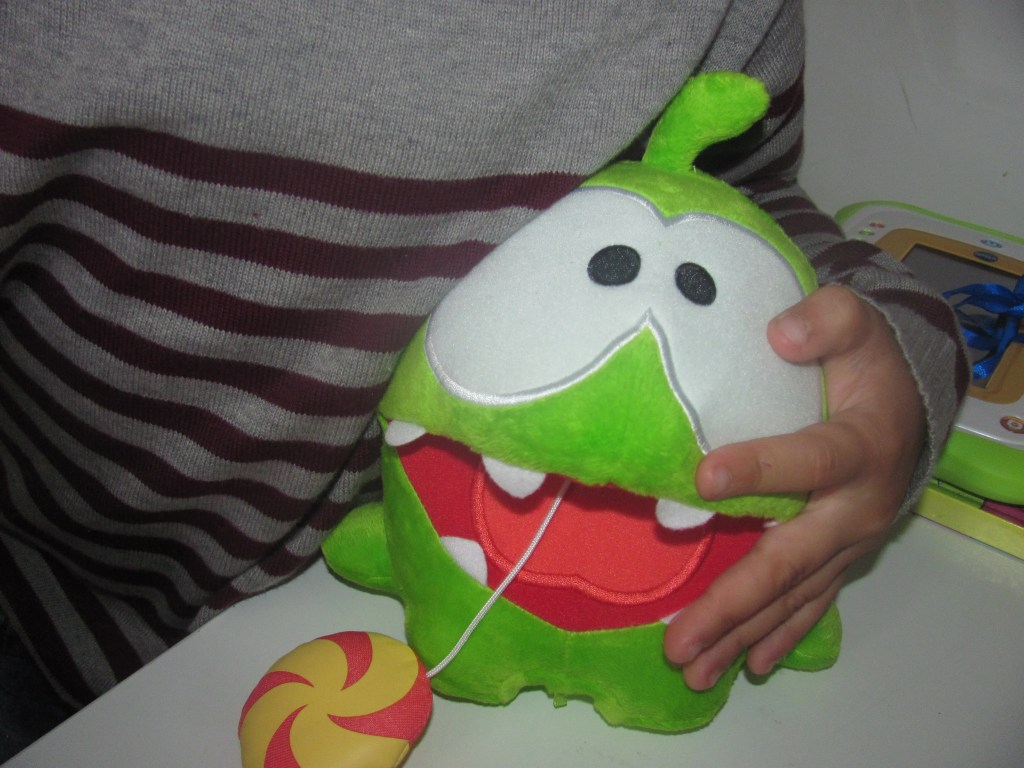cuddly plush om nom