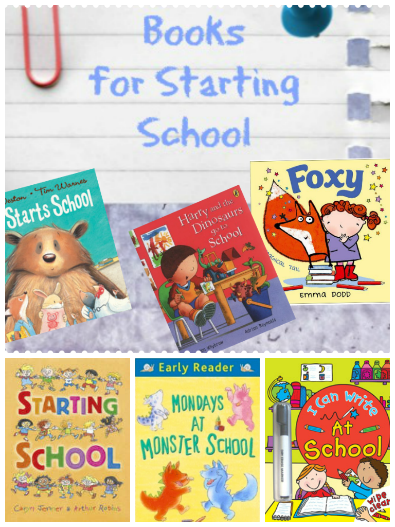 Useful book list of stories to read with kids all about starting school, and some guides for parents too! From http://intheplayroom.co.uk
