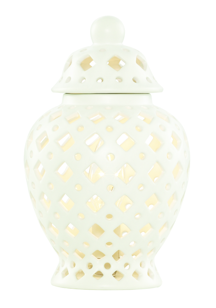 PAGAZZI Ginger Pot Table Lamp White £45