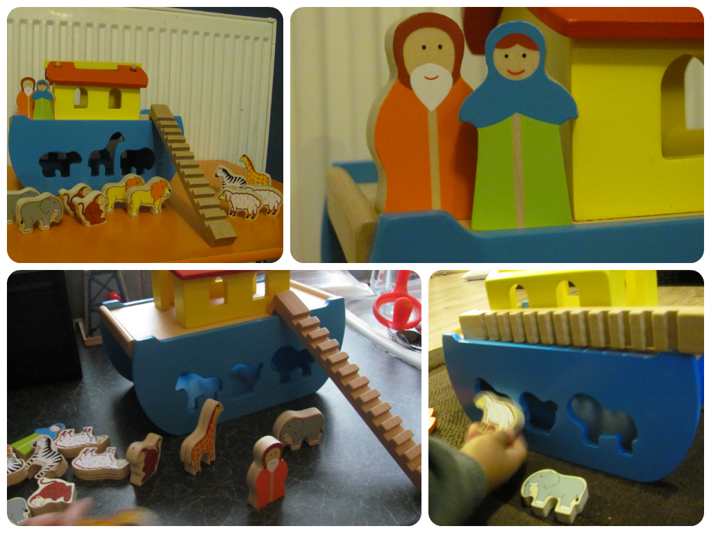 wooden noah's ark from wilko