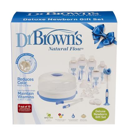 Advent Day 9 Dr Browns Newborn Gift Set In The Playroom