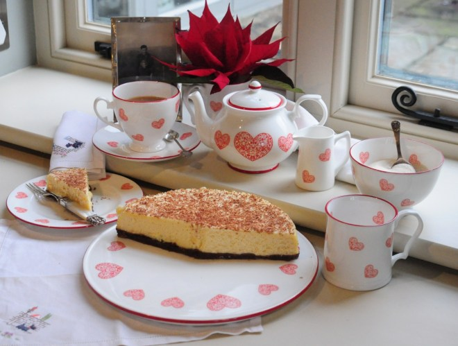 Hearts tea service for valentines tea party